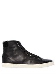 Lanvin 10Mm Nappa Leather High Top Sneakers