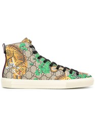 Gucci Bengal Hi Top Sneakers Forest