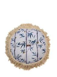 Poodle And Blonde Square Money Tree Midnight Pillow Blue