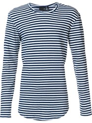 Ag Jeans Striped Longlseeved T Shirt Blue