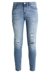 Springfield Texto Bolsillos Slim Fit Jeans Blue Denim Dark Blue