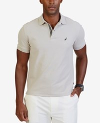Nautica Men's Slim Fit Performance Deck Polo Sand Drift