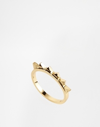 Whistles Slim Zig Zag Ring Gold