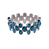 Monet Silver Faceted Montana Stretch Bracelet
