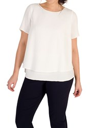 Chesca Layered Jacquard Top Ivory