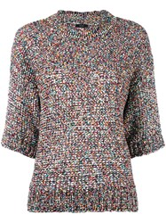 Joseph Knitted Colours Tweed Top