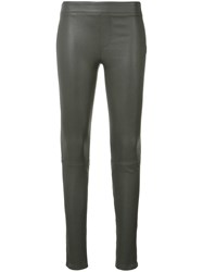 Helmut Lang Leather Leggings Black