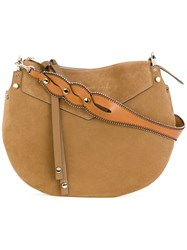 Jimmy Choo Artie Shoulder Bag Women Calf Leather Suede One Size Brown