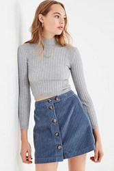 b42bddef84 Urban Outfitters Uo Jumbo Corduroy Button Down Mini Skirt Slate