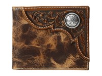 Ariat Bifold Distressed Wallet Tan Wallet Handbags