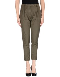 Paolo Pecora Trousers Casual Trousers Women Military Green