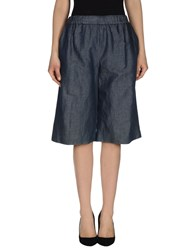Tela Denim Denim Bermudas Women Blue