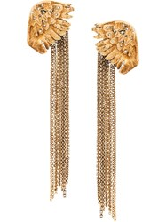 Ermanno Scervino Long Chain Earrings Gold
