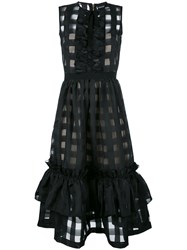 Marco Bologna 'Techno Vichy' Dress Black