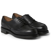 J.M. Weston 641 Leather Derby Shoes Black