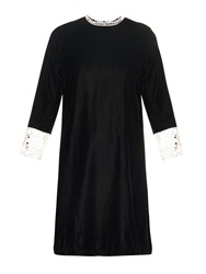 Vanessa Bruno Velvet And Lace Dress