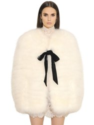 Philosophy Di Lorenzo Serafini Feather Cape With Contrasting Bow