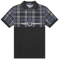 Fred Perry Tartan Logo Polo Black