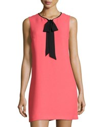 Cynthia Steffe Rosie Sleeveless Tie Neck Shift Dress Pink