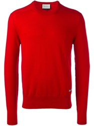 Gucci Crew Neck Knitted Jumper Red