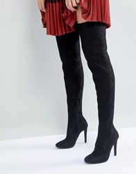 Call It Spring Black Over The Knee Boots Black