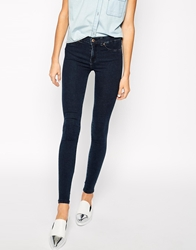 Dr. Denim Dr Denim Plenty High Waist Skinny Jeans Darkblue