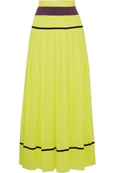 M Missoni Plisse Cotton Gauze Maxi Skirt Yellow