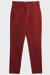 Missoni Cotton Chino Trousers Red