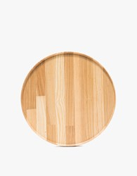 Hasami Porcelain 10 In. Round Tray In Ash Wood