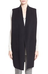 Rag And Bone 'Singer' Reversible Melton Wool And Bemberg Cupro Vest Black Navy