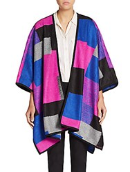 Chaus New York Geometric Poncho Sweater Flash Pink