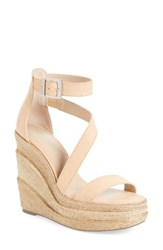 Charles By Charles David Women's Thunder Wedge Sandal Nude Micro Suede