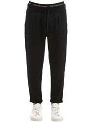 Calvin Klein Jeans Cropped Twill Pants Black