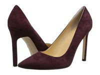 Ivanka Trump Carra Dark Wine Suede High Heels Burgundy