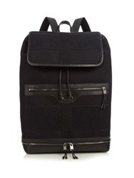 Balenciaga Arena Contrast Panels Cotton Canvas Backpack Black