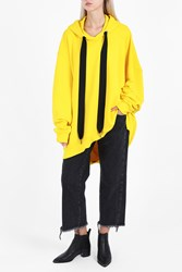 Marques Almeida Women S Oversize Bright Hoodie Boutique1 Yellow