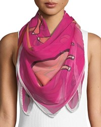 Anna Coroneo Cool Camels Silk Scarf Pink