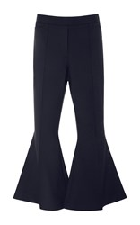 Ellery Frederico Cropped Flare Trousers Navy