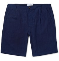 Universal Works Slub Cotton Shorts Blue