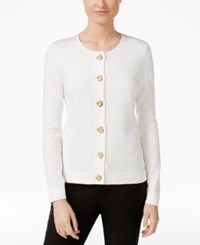 Calvin Klein Toggle Hardware Cardigan Natural