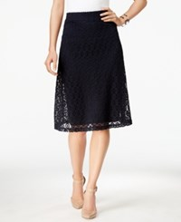 Alfani Lace A Line Skirt Only At Macy's Modern Navy