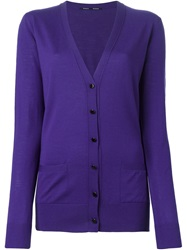 Proenza Schouler V Neck Cardigan Pink And Purple