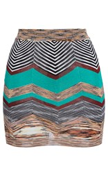 Missoni Fitted Mini Skirt Green