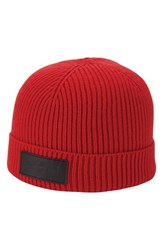 True Religion Men's Brand Jeans Rib Knit Beanie Red True Red