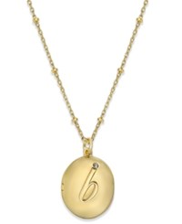 Kate Spade New York Gold Tone Initial 'A' Oval Locket Necklace B