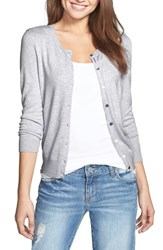 Halogenr Women's Halogen Three Quarter Sleeve Cardigan Heather Medium Grey