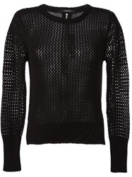 Unconditional Mesh Long Sleeved Top Black