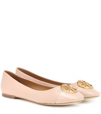 Tory Burch Chelsea Leather Ballerinas Beige
