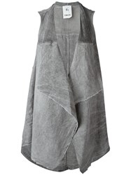 Lost And Found Rooms Sleeveless Cardigan Grey