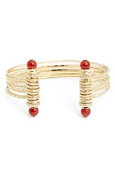 Lonna Lilly Lonna And Lilly 'Fall Sunrise' Multirow Cuff Carnelian